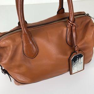 Ralph Lauren brown leather satchel